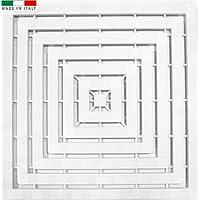 Cenni 75263 Caillebotis de Douche en Plastique Blanc 60 x 60, Made in Italy