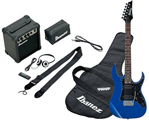 Ibanez IJRG200-BL Jumpstart Set E-Gitarre (Amp, Gigbag, Gurt, Kabel, Plektren, Zubehörtasche) blau