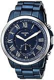 Fossil Q Hybrid Smartwatch Men's Grant Ocean Blue Stainless Steel FTW1140