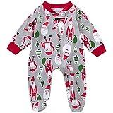 Kinder Strampler Hirolan Säugling Kind Kleinkind Weihnachten Strampler Sankt Jungen Mädchen O-Ausschnitt Kleider Lange Ärmel Overall 0-24 Monate Baby