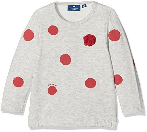 TOM TAILOR Kids Baby-Mädchen Sweatshirt 25313900021, Grau (Greyish Beige Melange 8353), 80