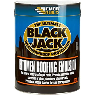 Everbuild 90605 906 Bitumen Roofing Emulsion 5L, Black, 5ltr