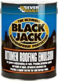 Everbuild 90605 906 Bitumen Roofing Emulsion 5L, Black, 5ltr