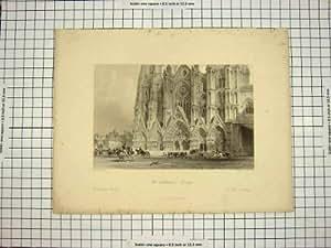 Architecture Extérieure de Bourges de la Cathédrale C1790-C1900