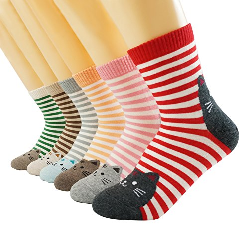Hello Kitty Socken - Oneworld Damen Frauen Mädchen 6 Paar/Halb