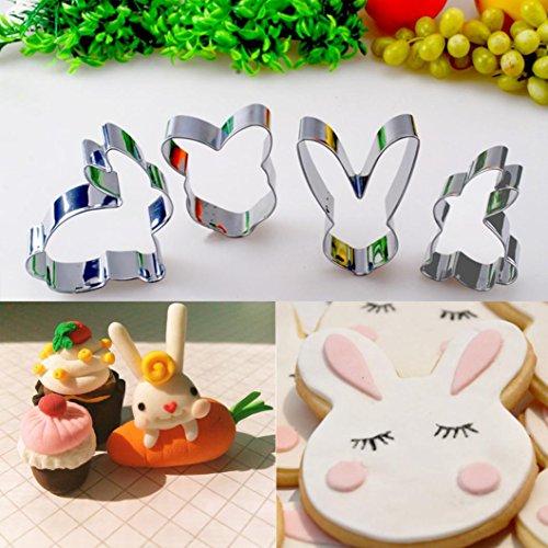 masrin 41Set Cute Kaninchen Cookies Cutter Gebäck Keks Kuchen dekorieren Form Werkzeuge stahl (Si Cookie Cutter)
