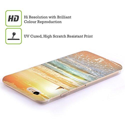 Head Case Designs Tropischer Sandstrand Wundevolle Strände Soft Gel Hülle für Apple iPhone 4 / 4S Landschaft Mit Sonnenuntergang Und Segelboot