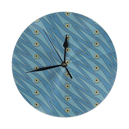 HomeMats 9.8 Inch Round Wall Clock,Blue Squidoo Silent Non Ticking Decorative Clocks for Kitchen, Living Room, Bedroom, Office (Kit Cat Clock-pink)