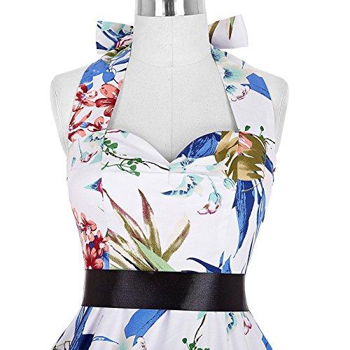 50s Retro Vintage Rockabilly Kleid Neckholder Festliches Kleid Petticoat Kleid CL6075-27