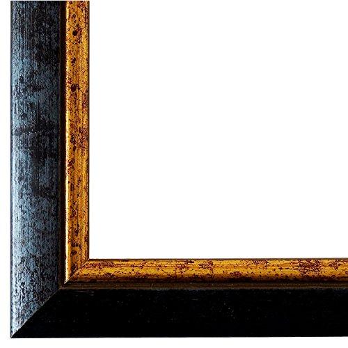 Bilderrahmen Blau Gold 50 x 60 cm - Modern, Klassisch - Alle Größen - handgefertigt - Galerie-Qualität - LR - Perugia 4,0