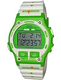 45b5cda0dd2f Timex Ironman Triathlon verde color blanco reloj Digital del deporte los  hombres correa de resina tw5