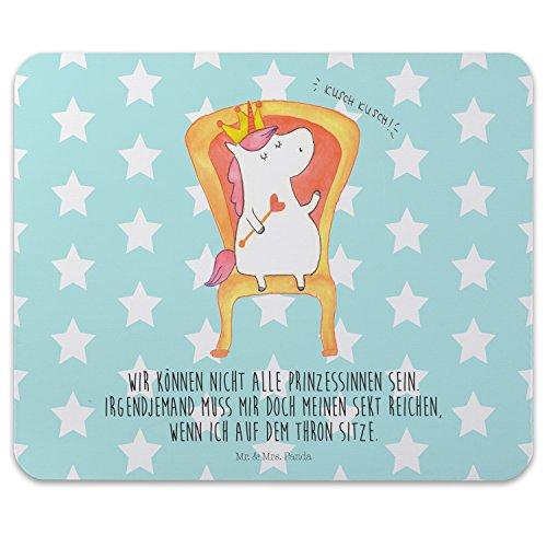(Mr. & Mrs. Panda Mauspad Druck Einhorn König - 100% handmade in Norddeutschland - Geschenk, Computer, Herrscher, PC, Gummi Natur Kautschuk, König, Mousepad, Druck, Arbeitszimmer, Motiv, Maus, Prosecco)