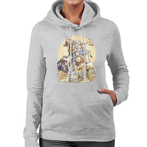 Doctor Who Wizard Planet Of Oz Women's Hooded Sweatshirt Heather Grey