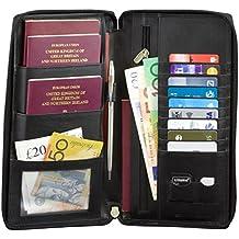 Koruma - Cartera viajes organizador con bloqueo de señales RFID, color NEGRO