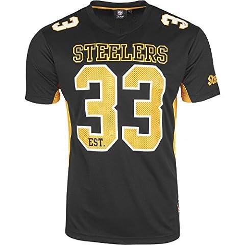 Majestic Pittsburgh Steelers Moro Est. 33 Mesh Jersey NFL T-Shirt L