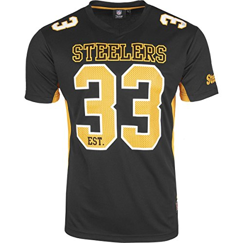 Majestic Pittsburgh Steelers Moro Est. 33 Mesh Jersey NFL T-Shirt L