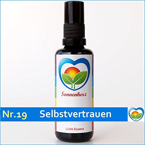 Energetische & feinstoffliche Lichtessenz Nr. 19 Selbstvertrauen von Sonnenherz - Auraspray, informierte Auraessenz