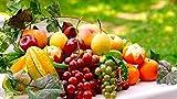 Wowdecor DIY Malen nach Zahlen Kits Geschenk für Erwachsene Kinder, Malen nach Zahlen Home Haus Dekor - Traube Orange Apfel Birne Früchte 40 x 50 cm ohne Rahmen