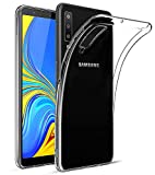 EIISSION Coque Samsung Galaxy A7 2018, Coque de Protection Transparente Gel Silicone Anti Choc Mince Souple Coque Case Cover pour Samsung Galaxy A7 2018