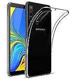 EIISSION Coque pour Samsung Galaxy A7 2018, Coque de Protection Transparente Gel Silicone Anti Choc Mince Souple Coque Case Cover pour Samsung Galaxy A7 2018