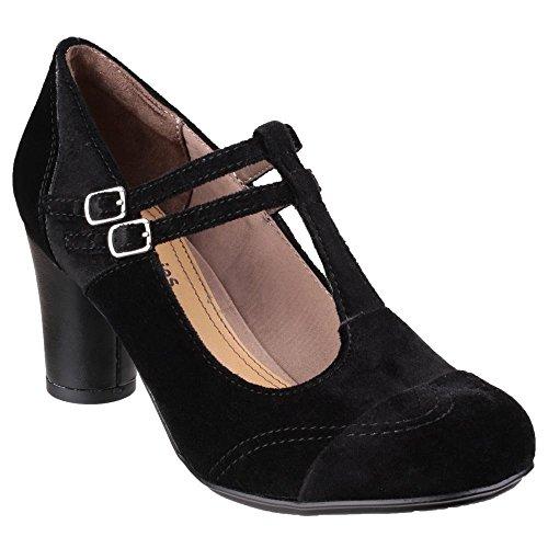 Hush Puppies Leder Kennedy Anya Schwarz Pumps, Mary Janes, Arbeit und Uniform Schuhe, Schwarz - Schwarz - Größe: 35.5 (Hush Puppies Uniform Schuhe)