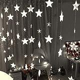 LED-Licht Lichterketten Gaddrt Sterne Vorhang Lichter 40 Sterne Lichter Fenster Lichterketten Plug in Vorhang String (Weiß)