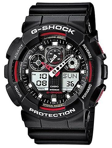 Casio G-Shock schwarz/rot Armbanduhr Herren analog-digital GA-100-1A4ER (Casio G-shock Ga-100-1a4er)