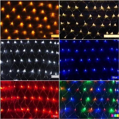 Luz LED Net 1,5 M x 1,5 M 100 LED de Navidad Luz de Navidad nos enchufe de 110V.