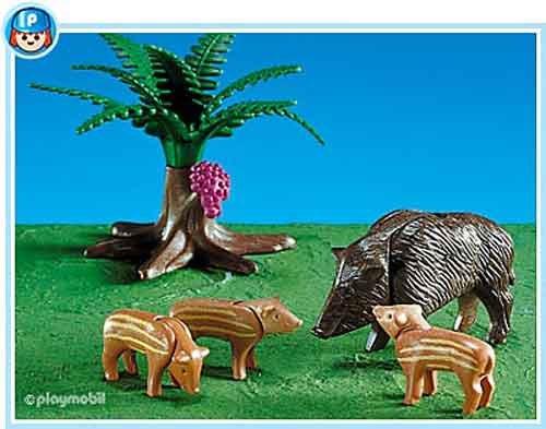 Preisvergleich Produktbild 7749 - PLAYMOBIL - Wildschwein mit Frischlingen