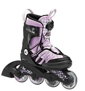 K2 Mädchen Inline Skate Charm X Boa, Schwarz/Rosa, S (29-34), 3040200.1.1