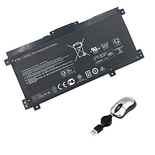Amsahr LK03XL-05 - Batería de reemplazo para HP LK03XL, 916368-541, 916814-855, HSTNN-UB71, TPN-W127, TPN-W128 (Incluye Mini ratón óptico) Color Gris