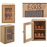 Oeuf en bois style placard de rangement–Peut contenir une dizaine de (x12) œufs–2étagères avec 6emplacements pour chaque