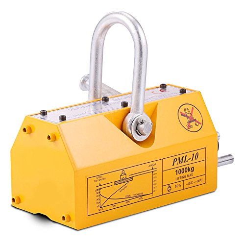 BuoQua Lasthebemagnet Neodym 1000KG Hebemagnet Extra Stark Kranmagnet Magnetheber 2500kg Zugkraft 3,5 Sicherheitsfaktor