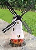 Mulino a vento ornamentale da giardino con luce a LED, alimentato a energia solare