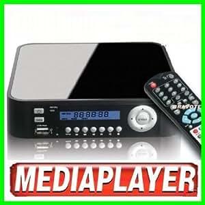 Disque Dur Multimedia Externe avec disque dur 1To (1000Go) - video composite / RVB - Hôte USB. Compatible windows 7/ Vista / XP /2000 et MAC OS 10.2 ou OS X et versions supérieures. composite - télécommande