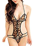 PHWOAR Women Brown Tiger Print Baby Doll...