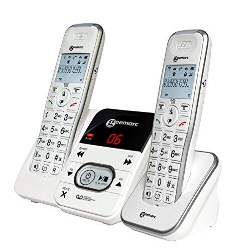 Geemarc AMPLIDECT 295amplificada teléfonos Duo