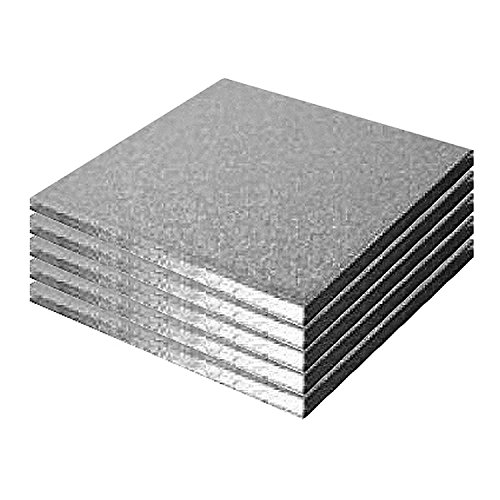 Culpitt Lot de 5 carré pour gâteau planches 10 en 254 mm x 13 mm (lot de 5)