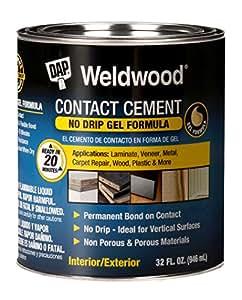 Dap 25312 Weldwood Contact Cement Gel Formula 1-Quart by Dap (English Manual)