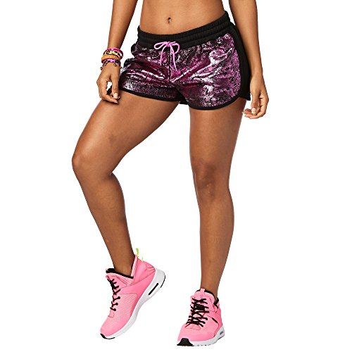 Zumba Fitness Damen La Pachanga Fitness Shorts Frauenhosen, Bold Black, L Preisvergleich