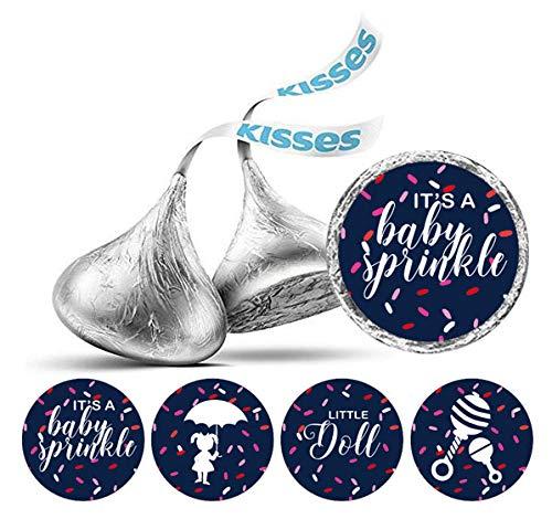 PC DIY Baby-Duschen-Aufkleber Hershey Kisses Schokolade Labels-Blau ()