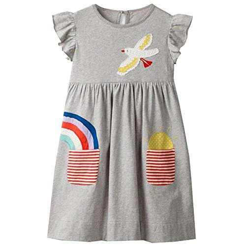 en Langarm Baumwolle Kleid SMK003 3T ()