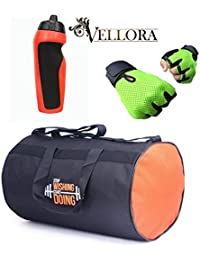VELLORA Polyester Long Lasting Material, Duffel Gym Bag Blue With Penguin Sport Sipper, Gym Sipper Water Bottle... - B07F2JSLT6