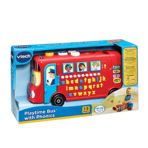 Image of VTech Baby Playtime Bus with Phonics - Red