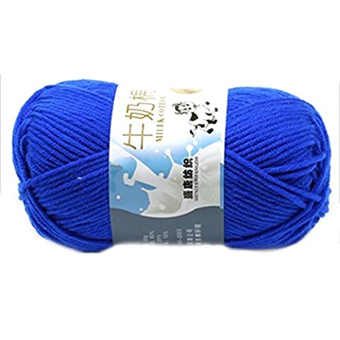 Smooth Soft Milk Cotton Natural Hand Knitting Wool Yarn Ball