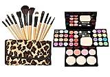 TimeSong Kit de maquillaje cosmético profesional conjunto de paleta (Incluye: Sombra de ojos y Blusher y polvo de cara y brillo labial) + Pinceles de maquillaje Set