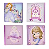 Disney Sofia The First Canvas Wall Art (4-Piece)