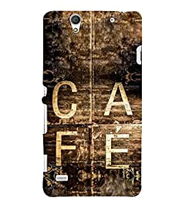 Vintage Café Sign 3D Hard Polycarbonate Designer Back Case Cover for Sony Xperia C4 Dual :: Sony Xperia C4 Dual E5333 E5343 E5363