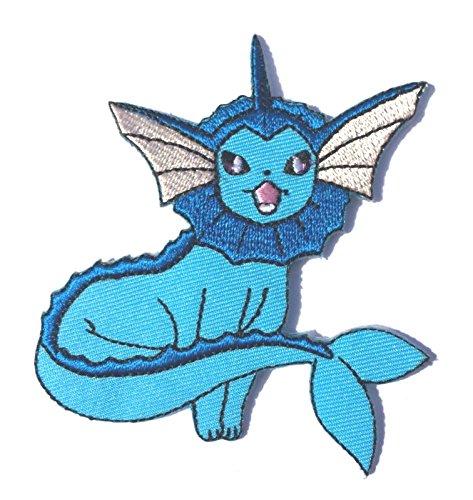 Vaporeon Patch Pokemon Go Aufbügeln oder nähen auf Badge Wasser Bubble Jet Aufnäher Souvenir DIY Kostüm Team Instinct Mystic (Diy Kostüme Pikachu)