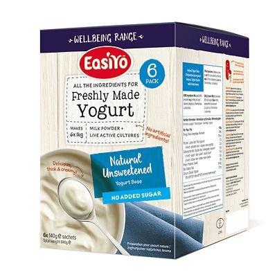 easiyo EasiYo Wellbeing 6er-Pack Naturjoghurtmischung, ungesüßt